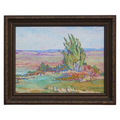 Fresh Pastel-Colored  Landscape Oil Painting