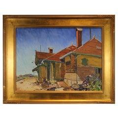 """""""Hillsboro R. R. Station"""" Desert Landscape Painting"""