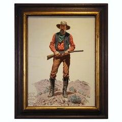 """""""Captain McMurry"""" Western Portrait Painting"""