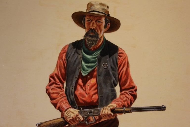 Captain McMurry - Beige Portrait Painting by Joe Ruiz Grandee