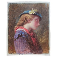 Untitled - Portrait of Girl with Blue Fascinator