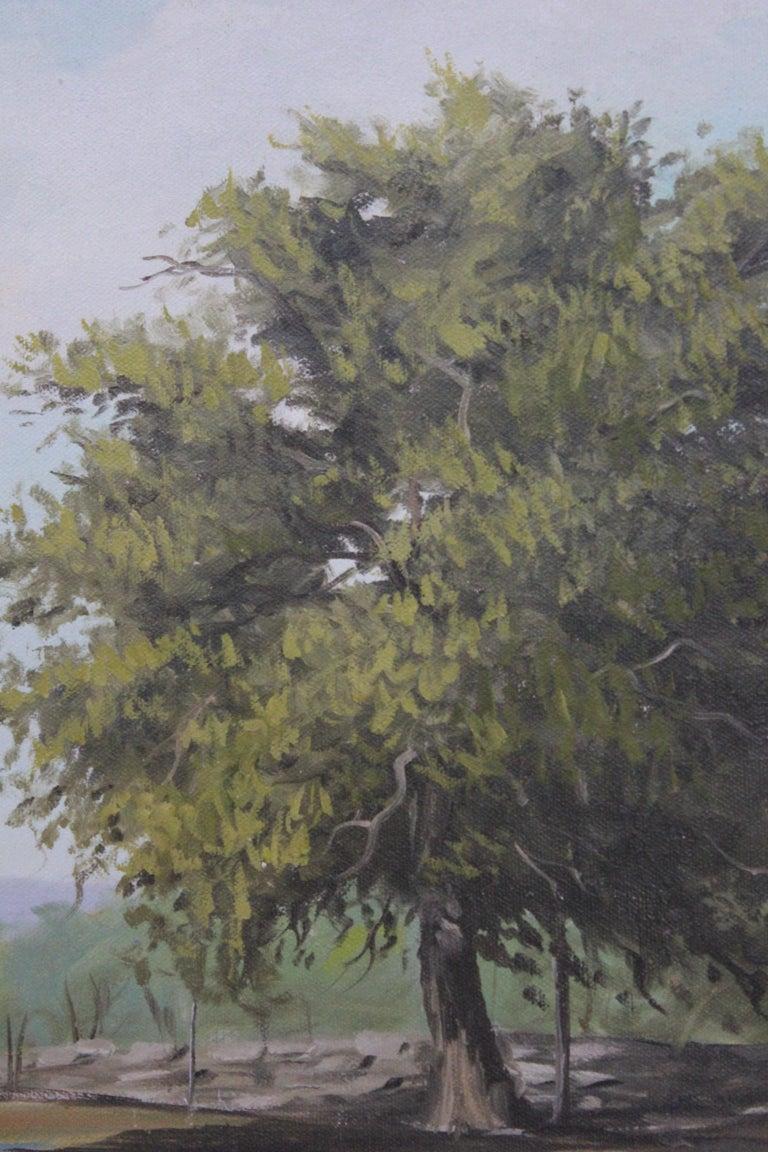 Texas Bluebonnet Pastoral Landscape - Painting by Napper