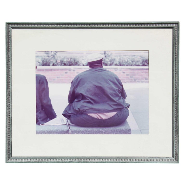 Rodney Susholtz Figurative Photograph - Photograph of Man's Back While Sitting