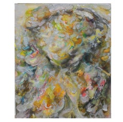 """""""(Silver Goya)"""" Colorful Impasto Expressionist Painting"""