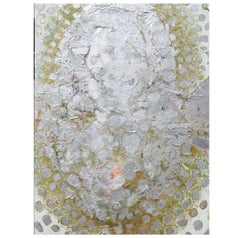 Large Impasto Silver Expressionist Painting