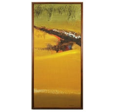Earth Toned Impasto Abstract Landscape
