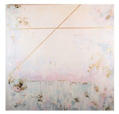 """""""A Conscious Fog"""" Pink and Light Blue Toned with Gold Leaf"""
