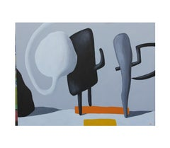 """""""Spermy and Licorice Popsicle Meet the Club"""" Bubble Surrealist Painting"""