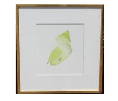 Green Painted Sea Shell Lithograph Edition 33 of 34