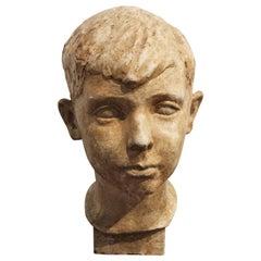 Ceramic Head of a Boy