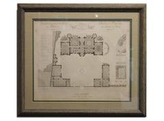 Private Architecture in 19th Century, Parisian Suburban Villa Floor Plan