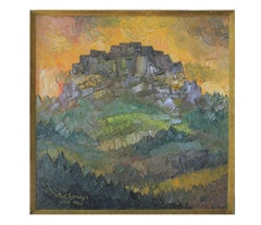 """Mountain"" Deep Tonal Abstract Impressionist Painting"
