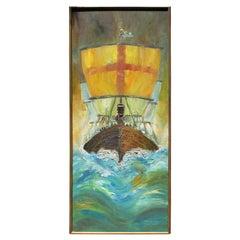 """""""Sea Raiders"""" Textured Impressionist Seascape Painting"""