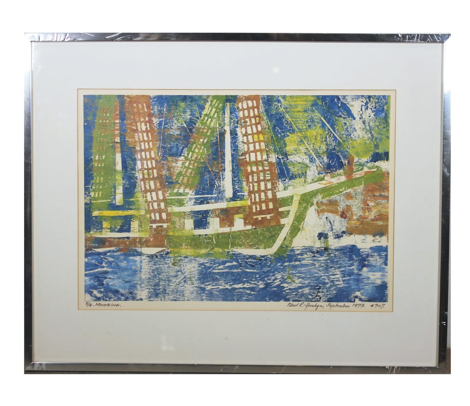 """Mooring"" Impressionist Seascape Edition 2 of 4"