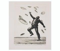 """Terrorist Juggling Plates"" Naturalistic Surrealist"