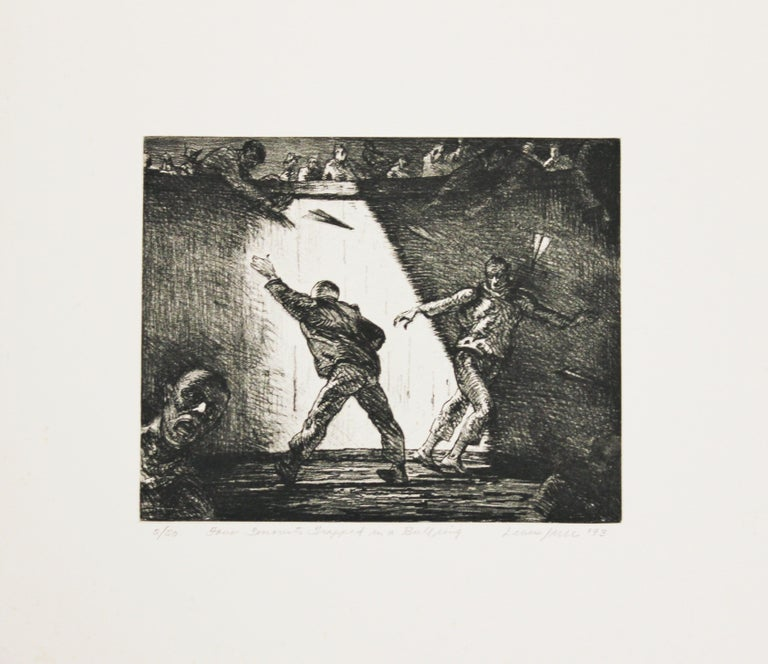 """Robert Levers Abstract Print - """"Four Terrorist Trapped in a Bullring"""" Edition 2 of 20"""