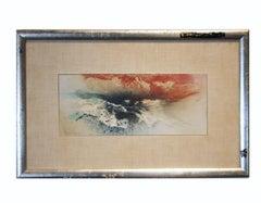 """Kabuki Colors"" Expressionist Mixed Media"