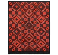 """Built on a Square"" Geometric Tapestry"