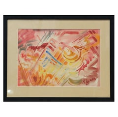 """#1 Abstraction"" Pink Tonal Abstract Expressionist"