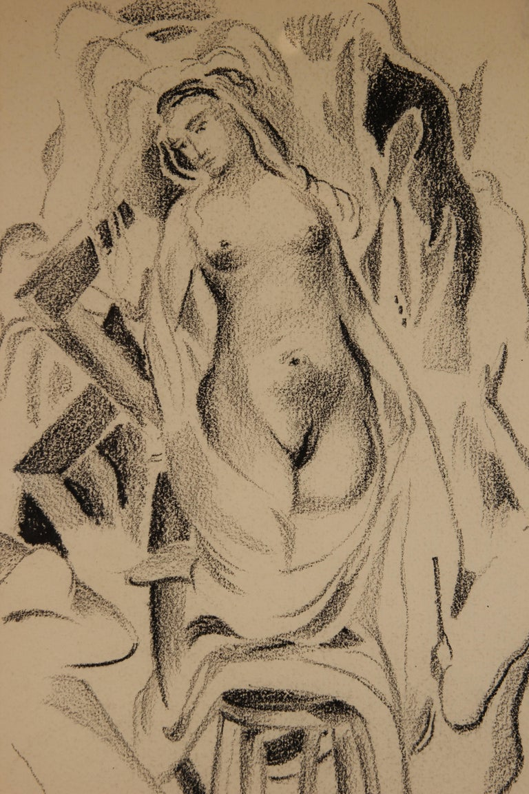 Drawing Study of a Standing Nude - Art by Robert Lockard