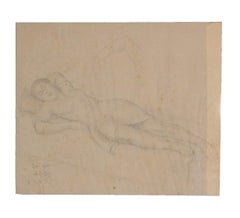Pencil Study of a Reclining Woman
