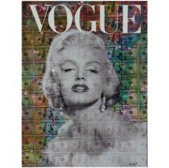 Money Marilyn Monroe Mixed Media Portrait