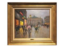 """""""L'Opera"""" French Impressionist Cityscape"""