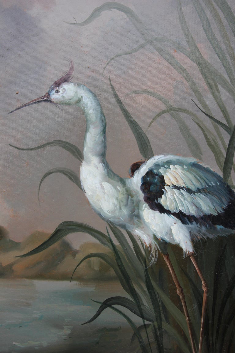 Naturalistic Bird Painting with Landscape For Sale 1