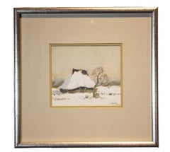 """Winter Landscape"" Impressionist Style Snowy Landscape"