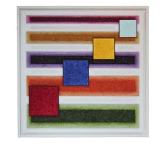 """""""Crystal Geometry"""" Crushed Glass Contemporary Geometric Abstract Painting"""