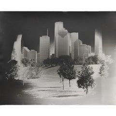 """Hermann Park Skyline"" Black and White Houston, Texas Skyline Photograph"