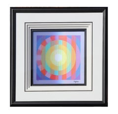 """Morning Light"" Geometric Holographic Art Edition 17 of 150"