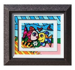 """""""Happy Days"""" Relief Fish Pop Art Edition 17 of 150"""