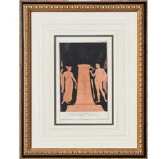 """In Bibliotecta Vaticana"" Classical Italian Etching"