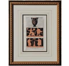 """In Bibliotheca Vaticana"" Classical Roman Etching"