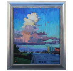 """""""High Clouds"""" Impressionist Style Landscape Painting"""