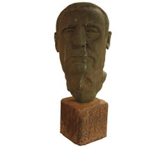 """Olie"" Bronze Bust of a Man"