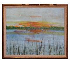 """Eagle Lake"" Impressionist Watery Landscape Painting"