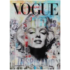 Vogue Marilyn Monroe Mixed Media Contemporary Collage