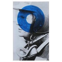 """Steve McQueen Blue"" Black and White Portrait"