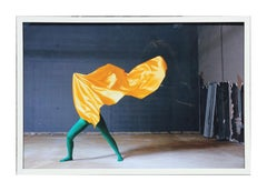 Contemporary Abstract Photograph of Dancer in Green and Yellow