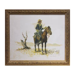 Naturalistic Union Soldier on Horseback