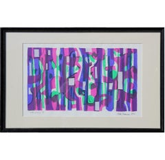 """Bulbs Growing"" Modern Abstract Geometric Serigraph Edition 9 of 15"