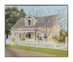 """The Lickskillet Inn"" Large Architectural Landscape Painting"