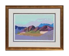 """""""Barretta, Australia"""" Colorful Impressionist Desert Landscape Edition 36 of 150"""