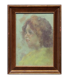 Impressionist Portrait of a Young Girl