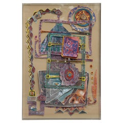 Contemporary Mixed Media Colorful Abstract Collage Work