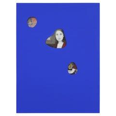 Contemporary Yves Kline Blue Revealing Portrait