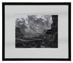 """The Bayon"" Angkor Wat, Cambodia Black and White Landscape Photograph"