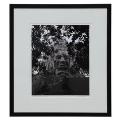 """""""West Gate"""" Angkor Thom, Cambodia Black and White Photograph"""